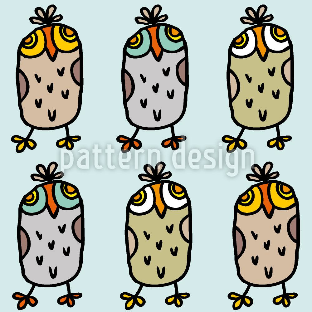 Papel tapiz de diseño Owls In A Row