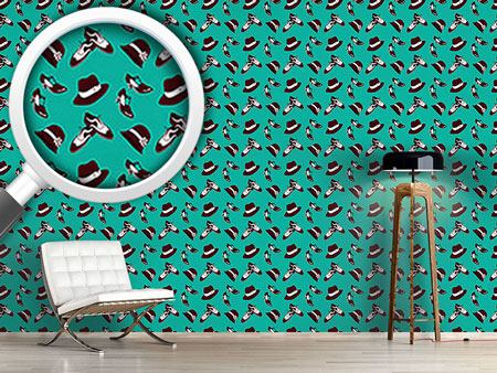 Design Wallpaper Twenties Shoes and Hats