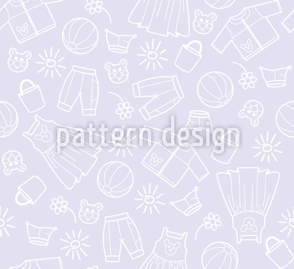 Papier peint design Childrens World Violet