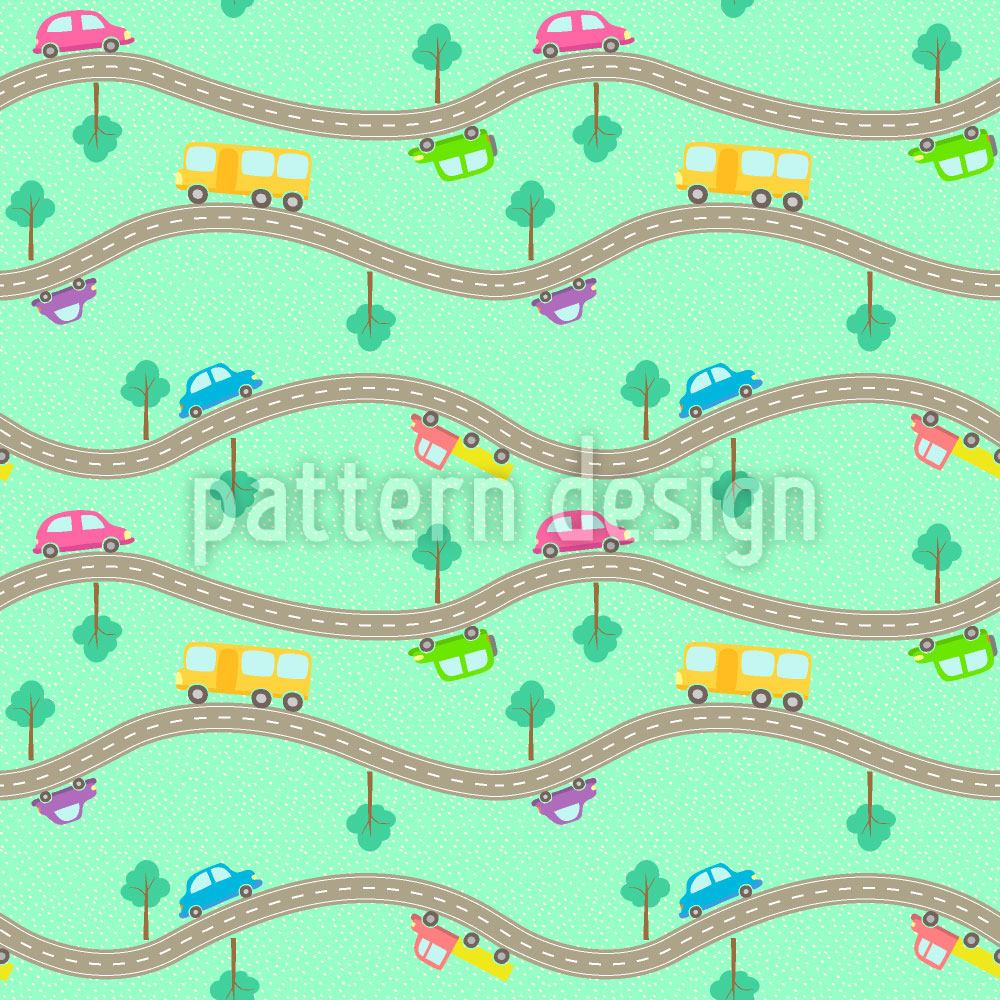 Papel tapiz de diseño Roads and Cars