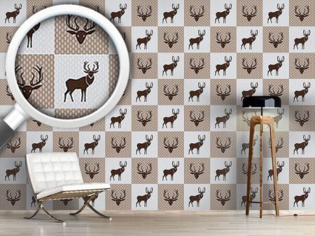 Design Wallpaper The Forest King Brown