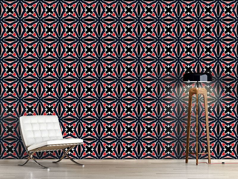 Design Wallpaper Retro Crosses