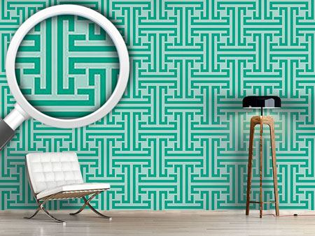 Design Wallpaper Emerald Labyrinth