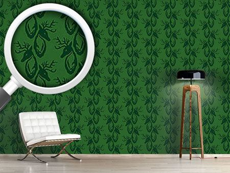 Design Wallpaper Green Stag