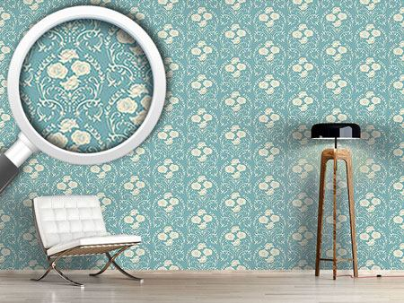 Papier peint design Rose Blue