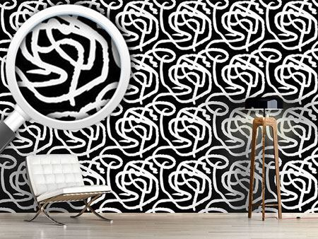 Design Wallpaper Black And White Painting