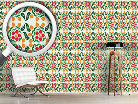 Design Wallpaper Polka Floral