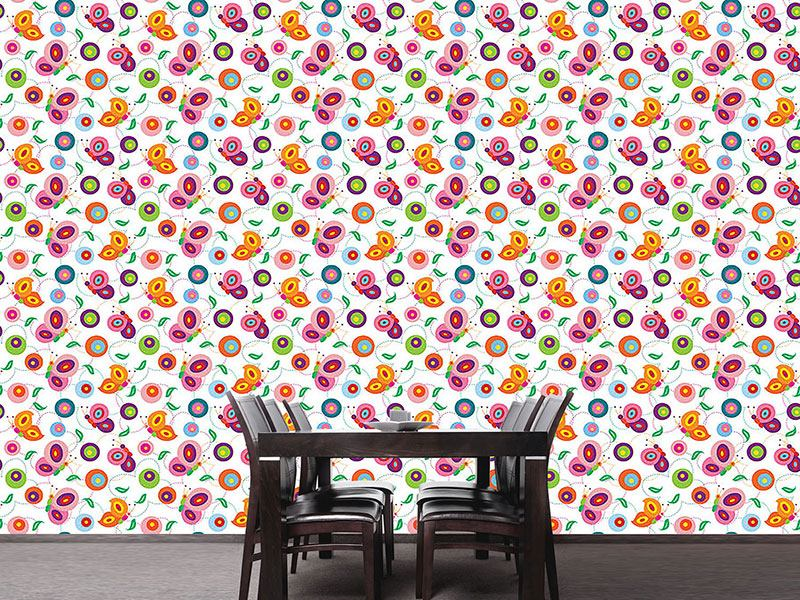 Design Wallpaper Butterfly Color