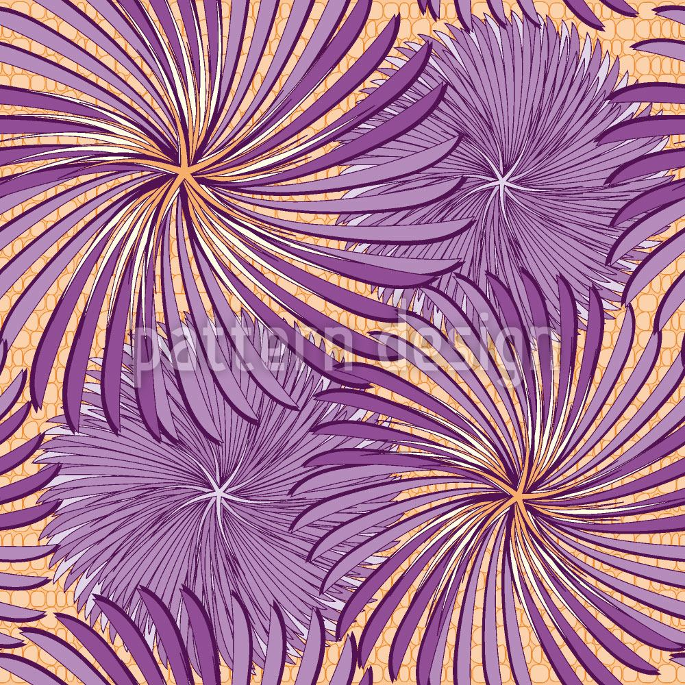 Papier peint design Turning Wheels Purple