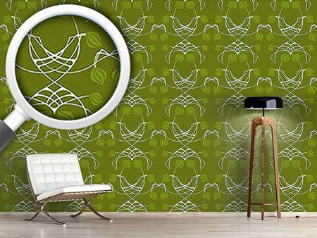 Papier peint design Arwens Dream Green