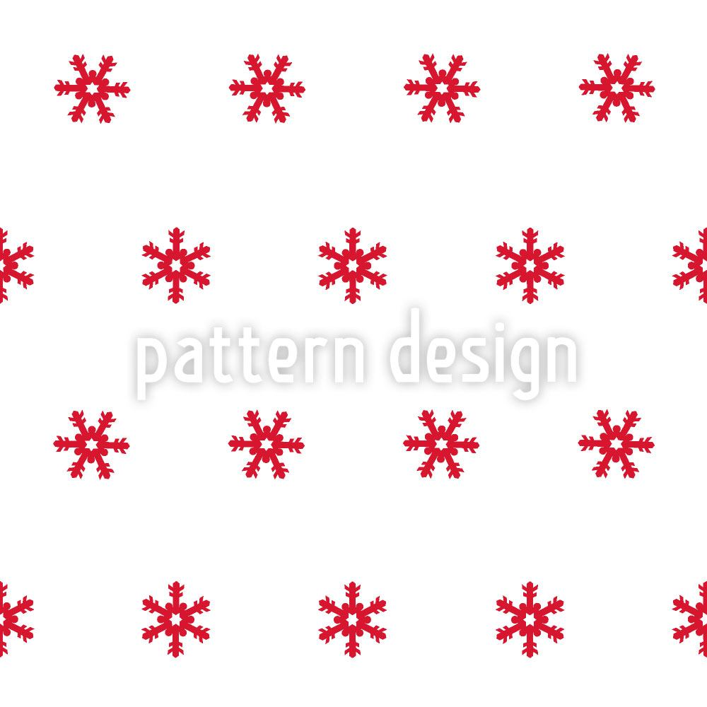 Design Wallpaper Snowflakes Red