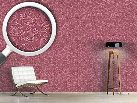 Design Wallpaper Hen Party Red