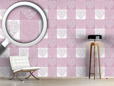 Design Wallpaper Hearty Lilac
