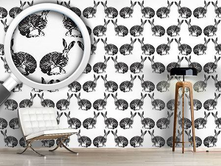 Design Wallpaper Hare Hunting