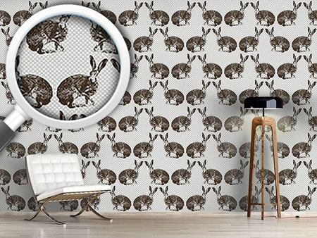 Design Wallpaper Hare Hunting Hearty