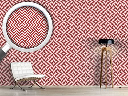 Design Wallpaper In The Center Red