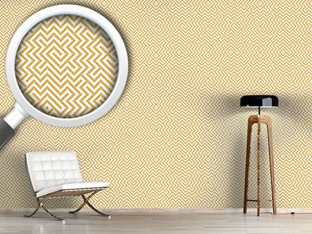 Design Wallpaper In The Center Yellow