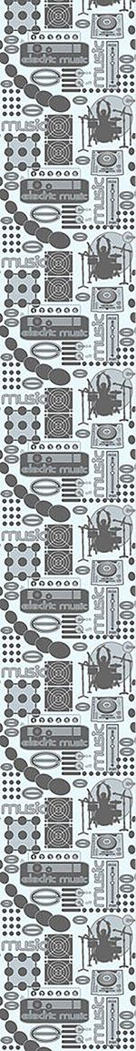 Papier peint design Electric Music