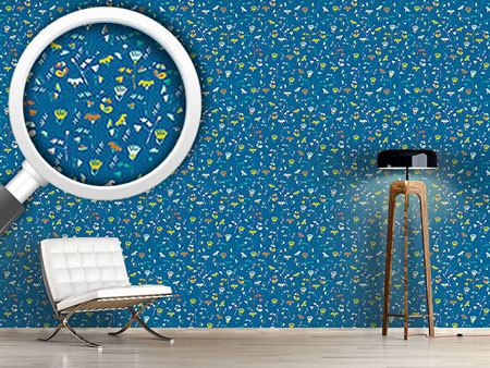 Papier peint design Fantasy In Blue
