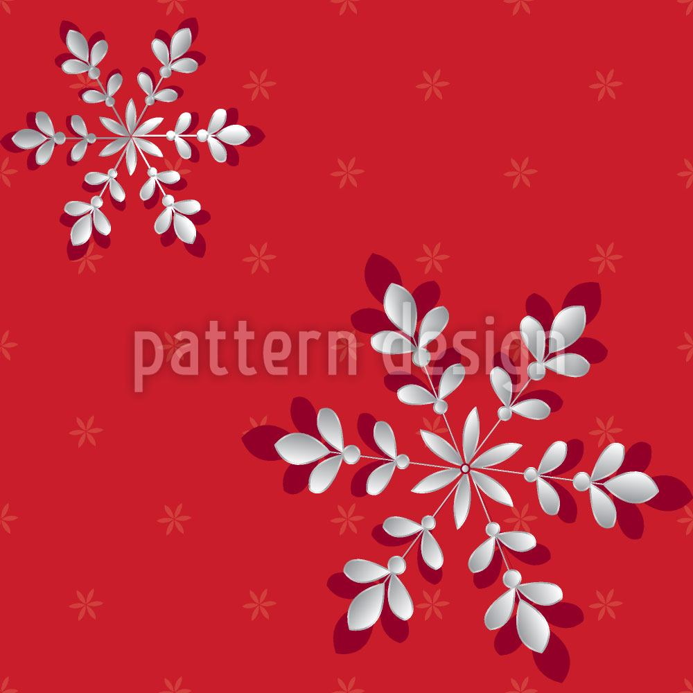 Carta da parati Silver Flakes Red