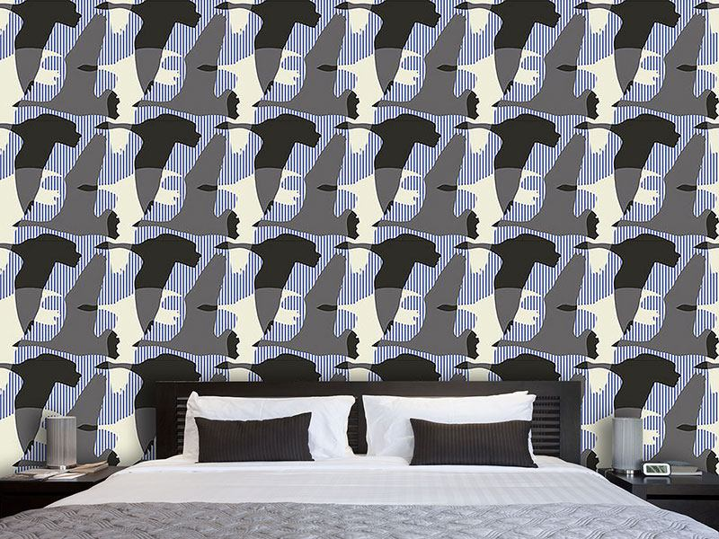 Design Wallpaper Flying Goose Maritime