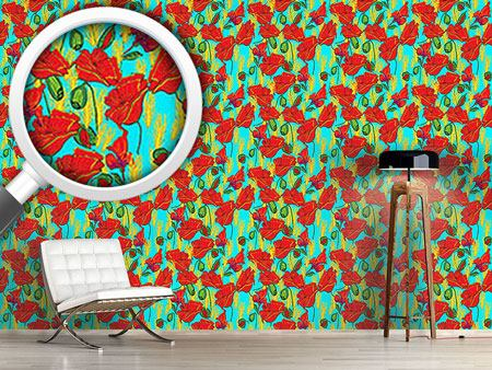 Papier peint design Poppies