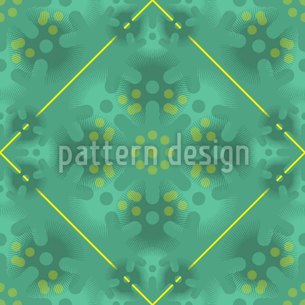Design Wallpaper Green Patina