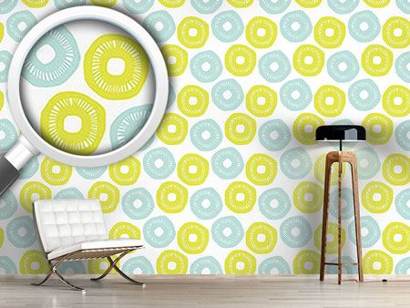 Design Wallpaper Sunshine Blue and Yellow