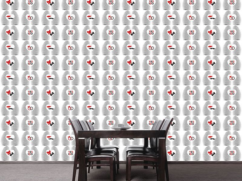Design Wallpaper Printed In My Heart