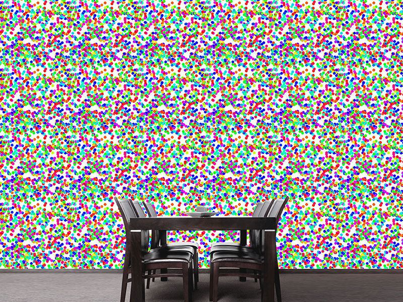 Design Wallpaper Dazzling Colorful Confetti