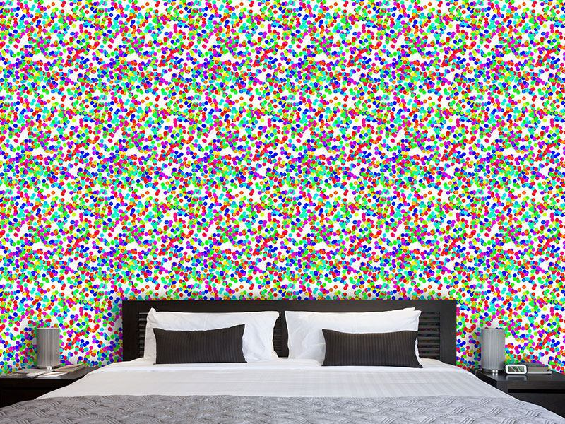 Papier peint design Dazzling Colorful Confetti