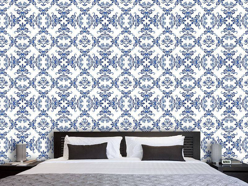 Design Wallpaper Tulip Delftware