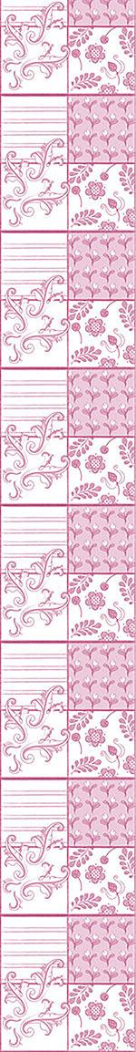 Papel tapiz de diseño Painted Art Pink
