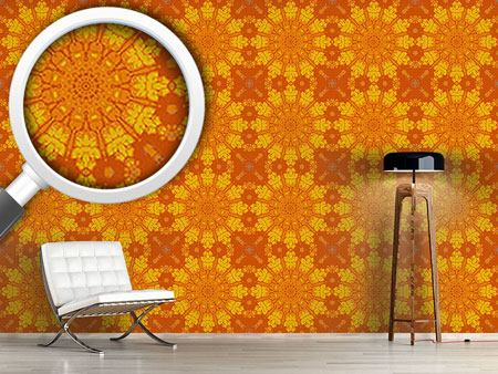 Design Wallpaper Gothic Sun Wheel