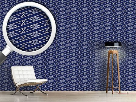 Design Wallpaper Rhombus Blue