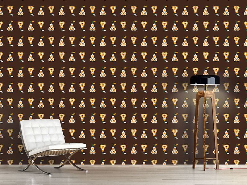 Design Wallpaper Chocolate Fondue With Pear