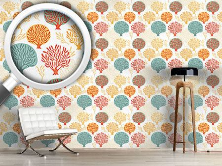 Design Wallpaper Tree Nursery In Autumn