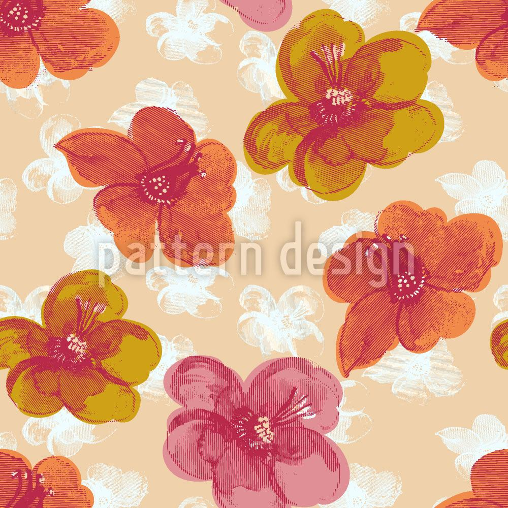 Design Wallpaper Brisk Flowers