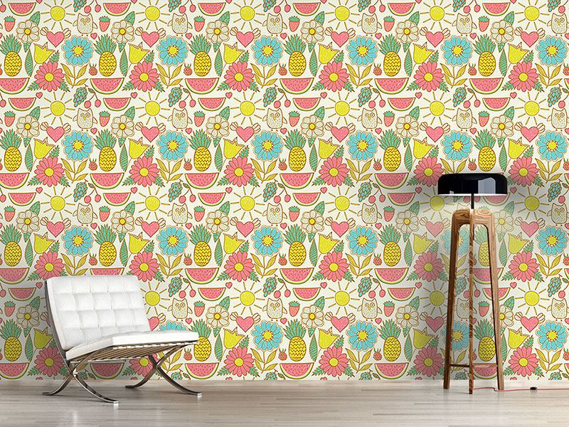 Design Wallpaper Owls On Holiday