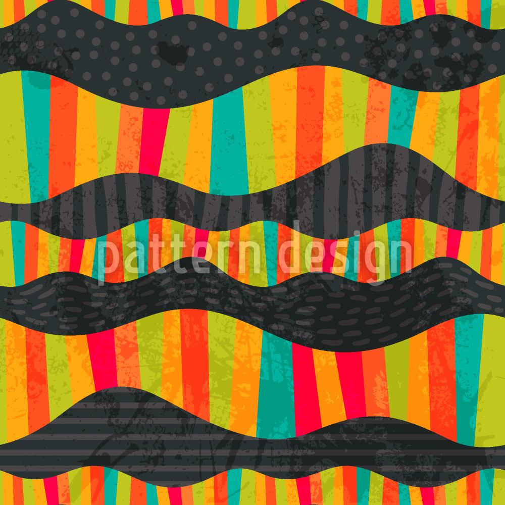 Papier peint design Funny Waves