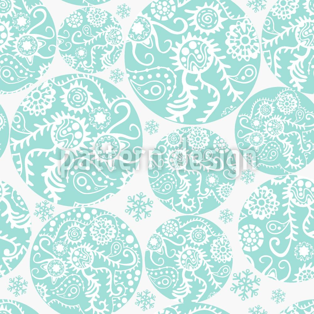 Papel tapiz de diseño Filigree Winter Circles