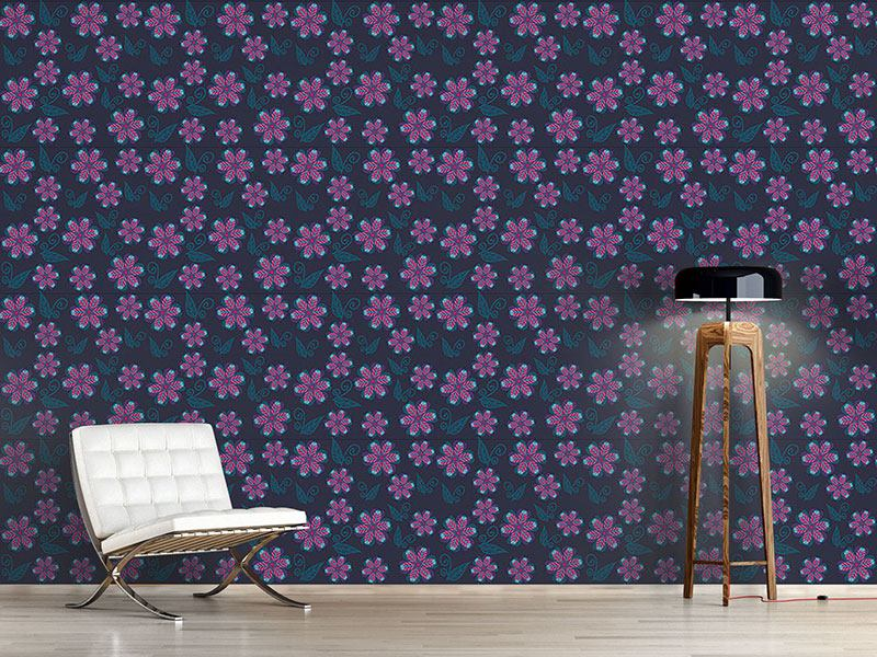 Papier peint design Melancholic Winter Flowers