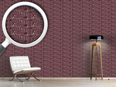 Design Wallpaper Filigree Chocolate