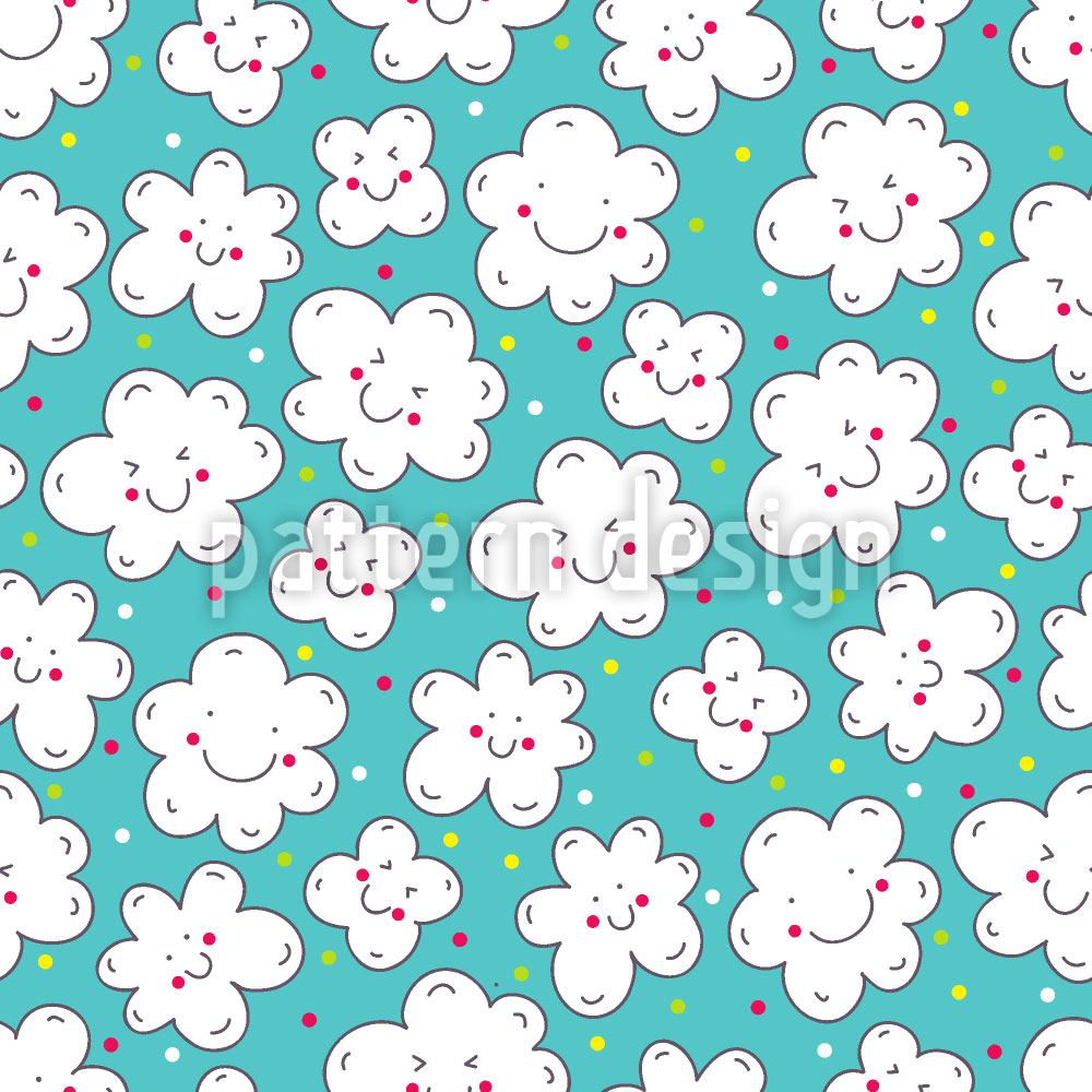 Design Wallpaper Clouds Smile