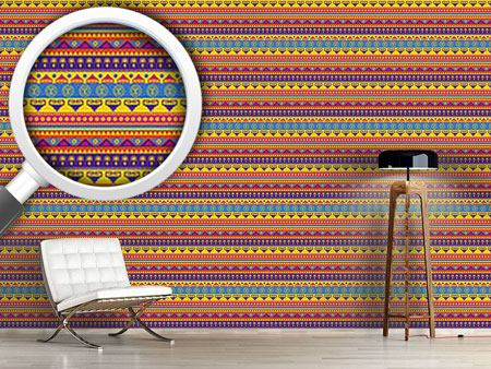 Design Wallpaper Funny Inca Print