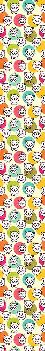 Papier peint design Cat King And Friends