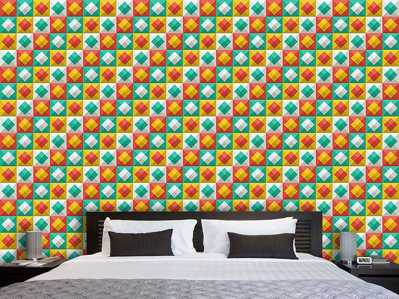 Design Wallpaper Happy Summer Plaid