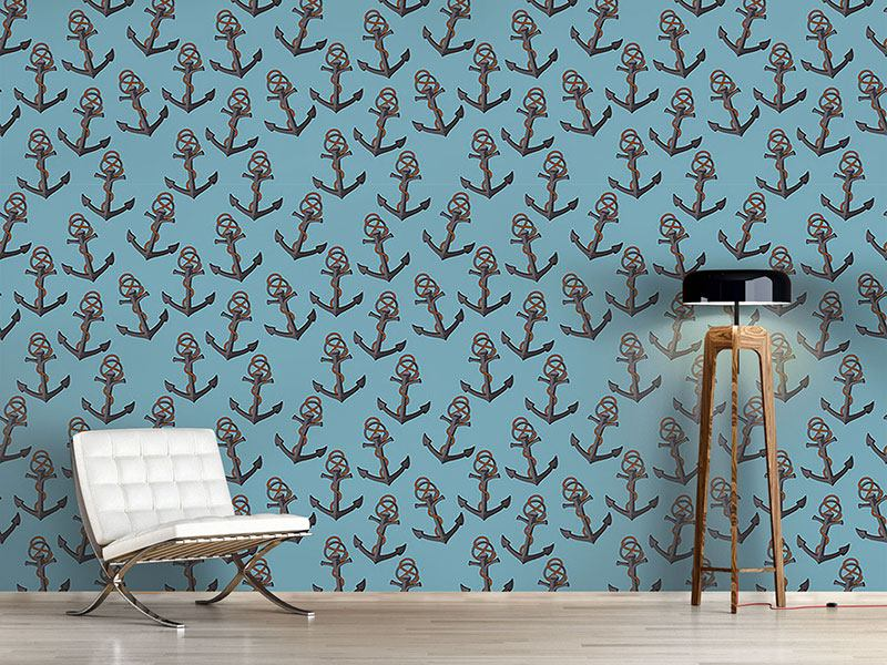 Design Wallpaper We Lying At Anchor