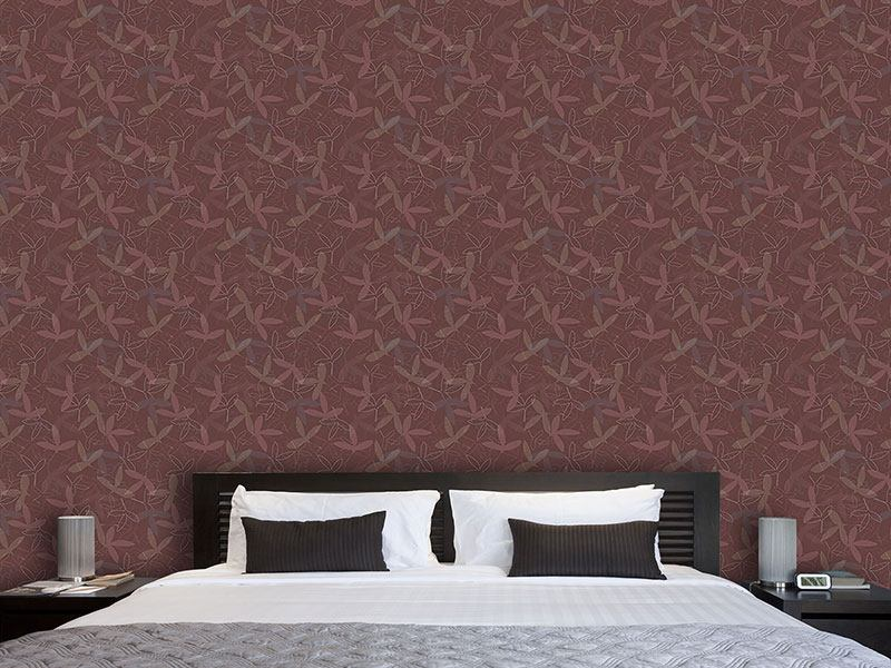 Design Wallpaper Petal Silhouettes