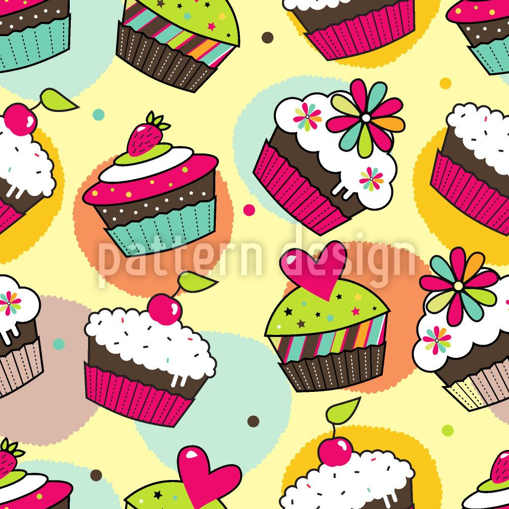 Papel tapiz de diseño Muffin Dreams